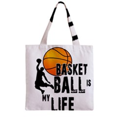 Basketball Is My Life Zipper Grocery Tote Bag by Valentinaart