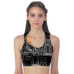 Basketball Is My Life Sports Bra by Valentinaart