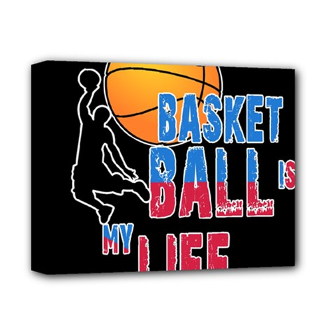 Basketball is my life Deluxe Canvas 14  x 11