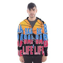Basketball is my life Hooded Wind Breaker (Men)