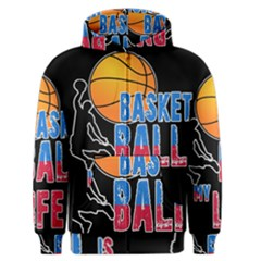 Basketball is my life Men s Zipper Hoodie