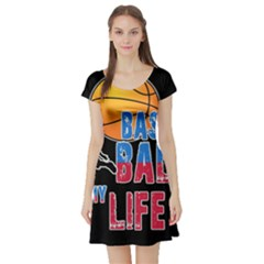 Basketball is my life Short Sleeve Skater Dress