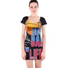 Basketball is my life Short Sleeve Bodycon Dress