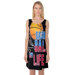 Basketball is my life Sleeveless Satin Nightdress