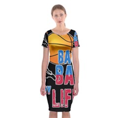 Basketball is my life Classic Short Sleeve Midi Dress