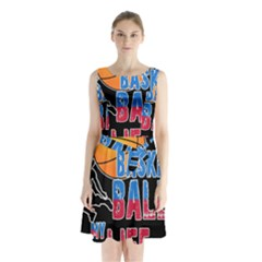 Basketball is my life Sleeveless Waist Tie Chiffon Dress