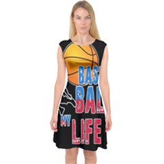 Basketball is my life Capsleeve Midi Dress