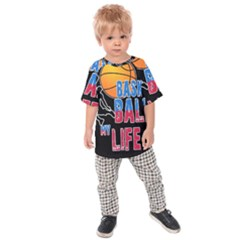 Basketball is my life Kids  Raglan Tee