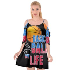 Basketball is my life Cutout Spaghetti Strap Chiffon Dress