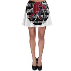 Basketball Never Stops Skater Skirt by Valentinaart