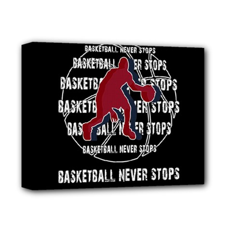 Basketball Never Stops Deluxe Canvas 14  X 11