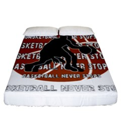 Basketball Never Stops Fitted Sheet (king Size)
