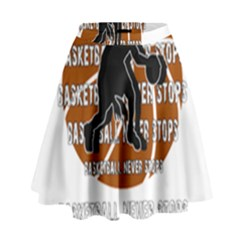 Basketball Never Stops High Waist Skirt