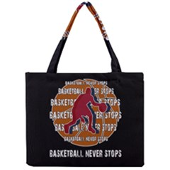 Basketball Never Stops Mini Tote Bag by Valentinaart