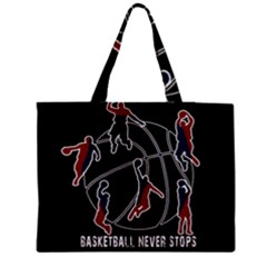 Basketball Never Stops Medium Tote Bag by Valentinaart