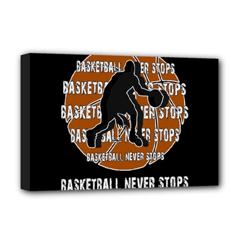 Basketball Never Stops Deluxe Canvas 18  X 12