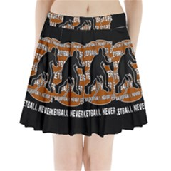 Basketball Never Stops Pleated Mini Skirt by Valentinaart