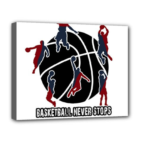 Basketball Never Stops Deluxe Canvas 20  X 16