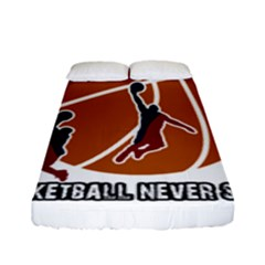 Basketball Never Stops Fitted Sheet (full/ Double Size) by Valentinaart