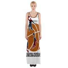 Basketball Never Stops Maxi Thigh Split Dress