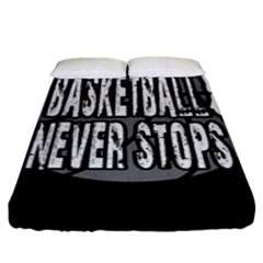 Basketball Never Stops Fitted Sheet (king Size) by Valentinaart