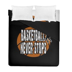 Basketball Never Stops Duvet Cover Double Side (full/ Double Size) by Valentinaart