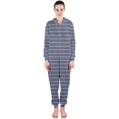 Decorative Lines Pattern Hooded Jumpsuit (ladies)