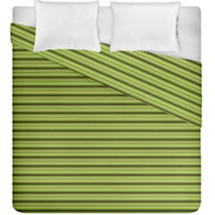 Decorative Lines Pattern Duvet Cover Double Side (king Size) by Valentinaart