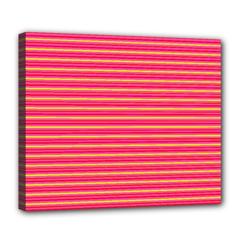 Decorative Lines Pattern Deluxe Canvas 24  X 20
