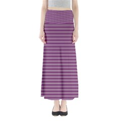 Decorative Lines Pattern Maxi Skirts
