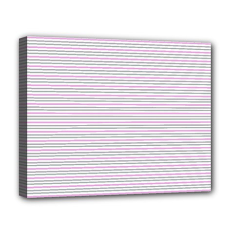 Decorative Lines Pattern Deluxe Canvas 20  X 16   by Valentinaart