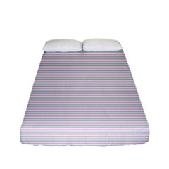 Decorative Lines Pattern Fitted Sheet (full/ Double Size) by Valentinaart