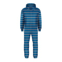 Decorative Lines Pattern Hooded Jumpsuit (kids)