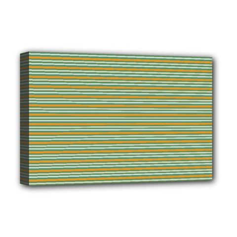 Decorative Line Pattern Deluxe Canvas 18  X 12