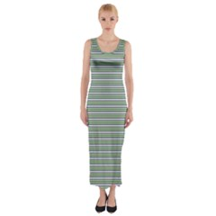 Decorative Line Pattern Fitted Maxi Dress