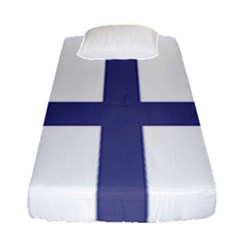 Greek Cross  Fitted Sheet (single Size) by abbeyz71