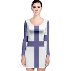 Greek Cross  Long Sleeve Velvet Bodycon Dress by abbeyz71