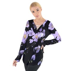 Autumn Crocus Women s Tie Up Tee