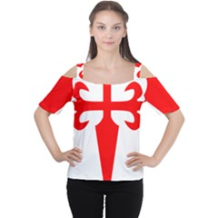 Cross Of Saint James Women s Cutout Shoulder Tee by abbeyz71