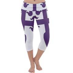 Cross Of Saint James Capri Yoga Leggings