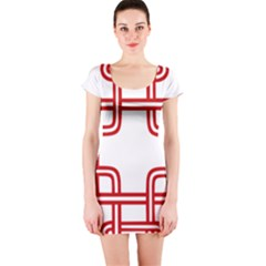 Macedonian Cross Short Sleeve Bodycon Dress by abbeyz71