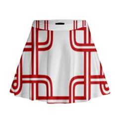 Macedonian Cross Mini Flare Skirt