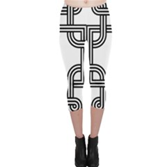Macedonian Cross Capri Leggings  by abbeyz71