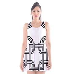 Macedonian Cross Scoop Neck Skater Dress