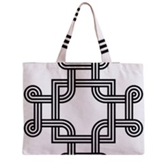 Macedonian Cross Medium Zipper Tote Bag