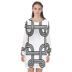 Macedonian Cross Long Sleeve Chiffon Shift Dress  by abbeyz71
