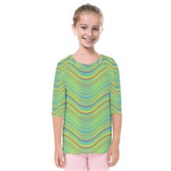 Pattern Kids  Quarter Sleeve Raglan Tee