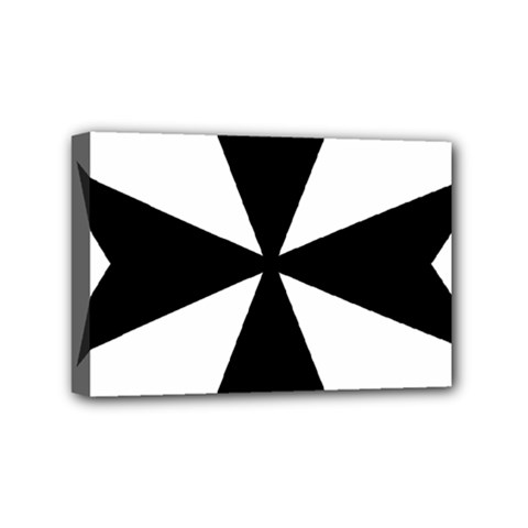 Maltese Cross Mini Canvas 6  X 4  by abbeyz71