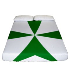 Cross Of Saint Lazarus  Fitted Sheet (king Size) by abbeyz71