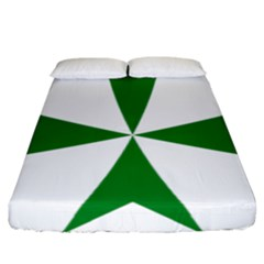 Cross Of Saint Lazarus  Fitted Sheet (california King Size) by abbeyz71
